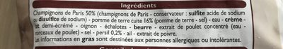 Veloute Champignons de Paris - Ingredients