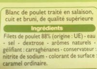 Blanc de poulet - Ingredienti - fr
