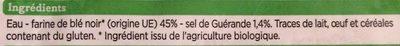 Galette de blé noir - Ingrédients - fr