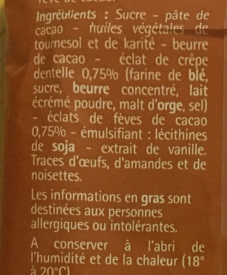 Oeufs pralinés noir - Ingrédients