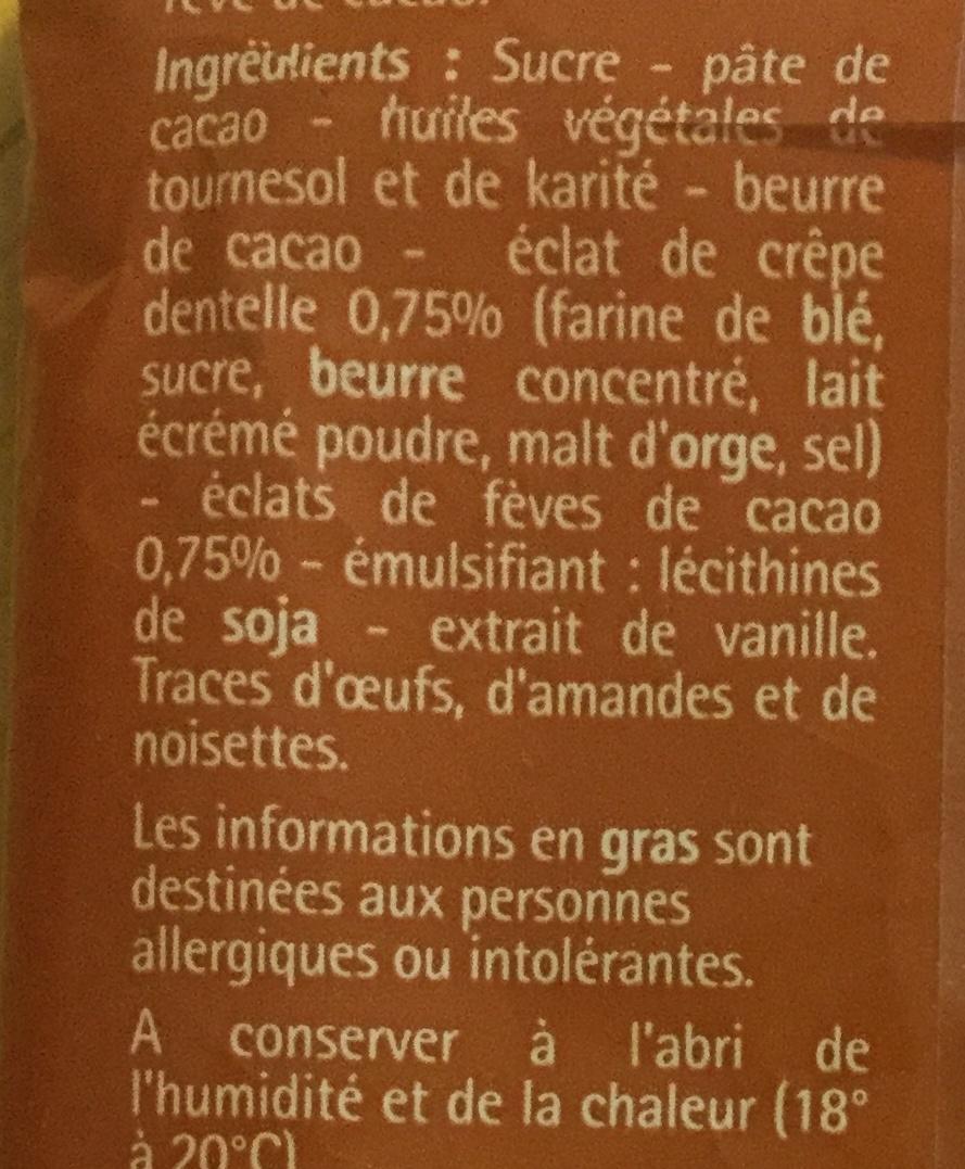 Oeufs pralinés noir - Ingredients - fr