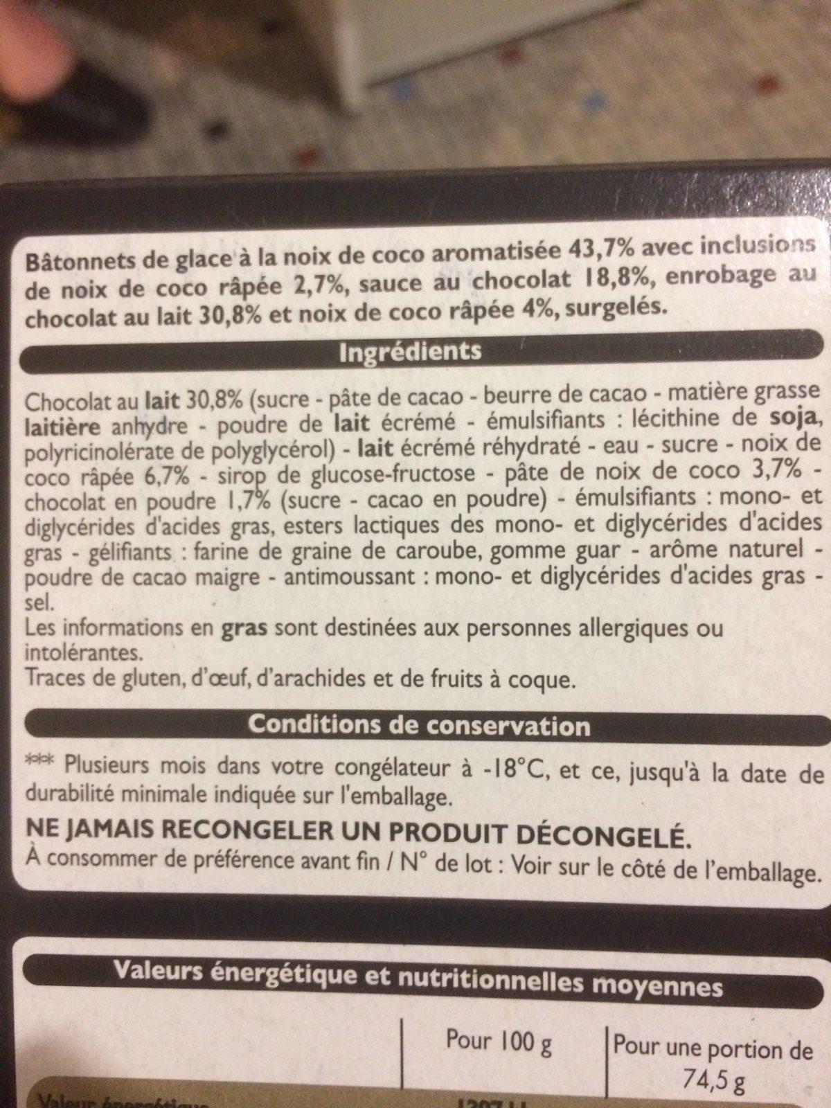 Xtra Savoureux Noix de Coco - Nutrition facts