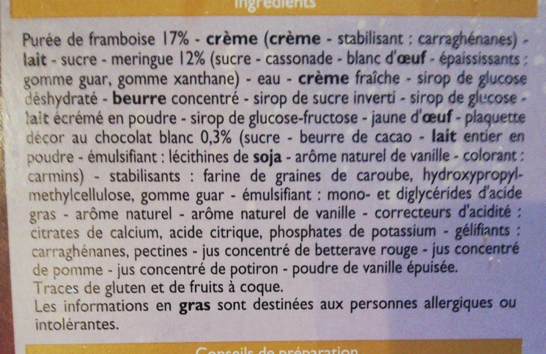 Bûche glacée façon vacherin - Ingredients - fr