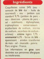 Coquillettes jambon emmental - Ingredients