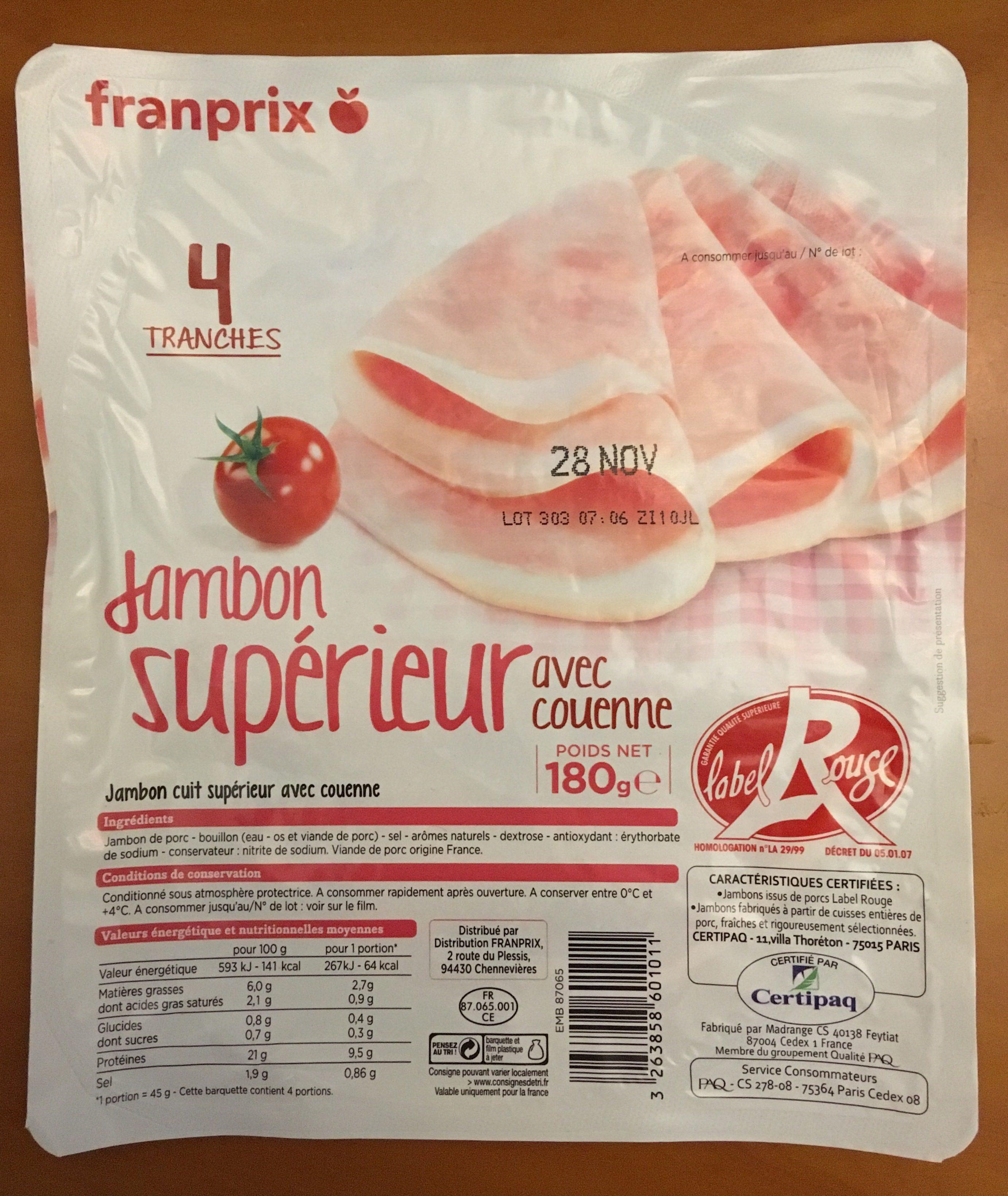 Jambon Supérieur avec couenne - Product - fr