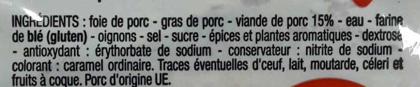 Pâte de campagne, recette à l'ancienne - Ingredients