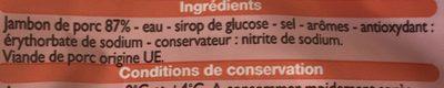 Jambon de Paris (10 tranches) - Ingrediënten