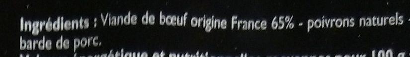 Brochettes de Bœuf - Ingrédients