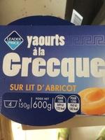 Yaourt grecque sur lit d'abricot - Product