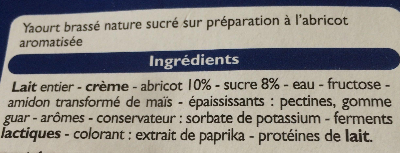 Yaourt grecque sur lit d'abricot - Ingrediënten