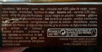 Mousse chocolat noir coulis au caramel - Ingrediënten