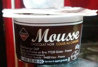 Mousse chocolat noir coulis au caramel - Voedingswaarden