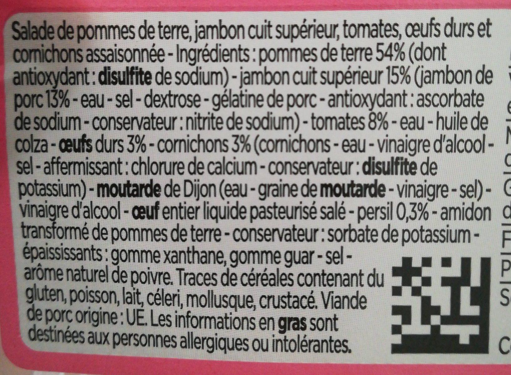 Piémontaise au jambon - Ingrediënten