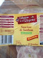 Saucisse de jambon - Informations nutritionnelles - fr