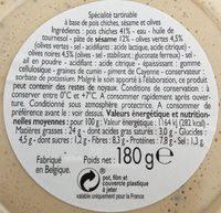 Houmous aux olives - Ingrédients - fr