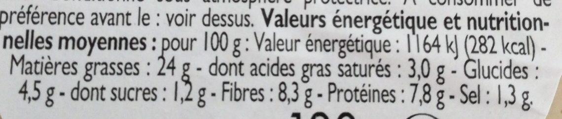 Houmous aux olives - Informations nutritionnelles - fr