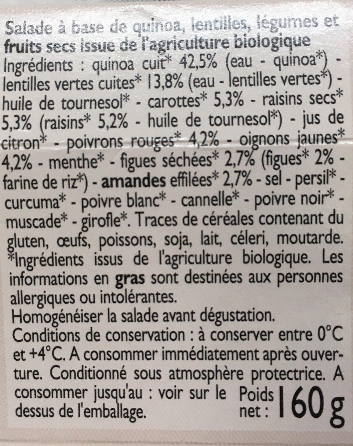 Salade de quinoa aux légumes et fruits secs - Ingrédients - fr