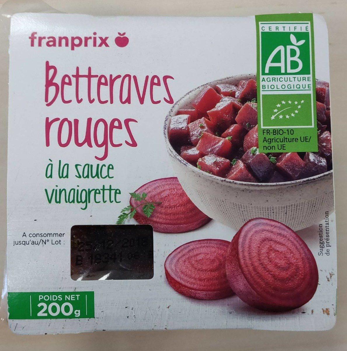 Betteraves rouges à la sauce vinaigrette - Produit - fr