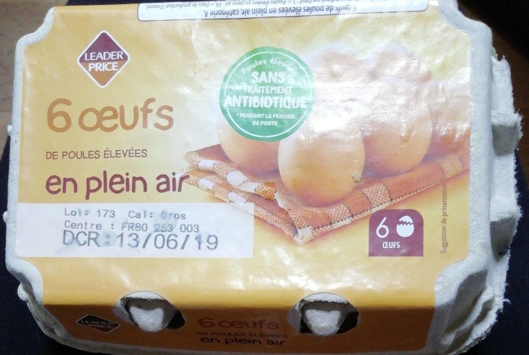 Œufs de poule plein air - Prodotto - fr