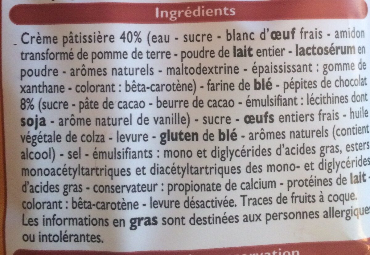 Petits Chinois - Ingredients - fr