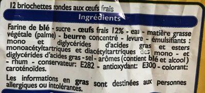 Briochettes Rondes - Ingrédients - fr