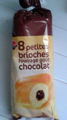 8 petites brioches fourrage goût chocolat - Produit - fr