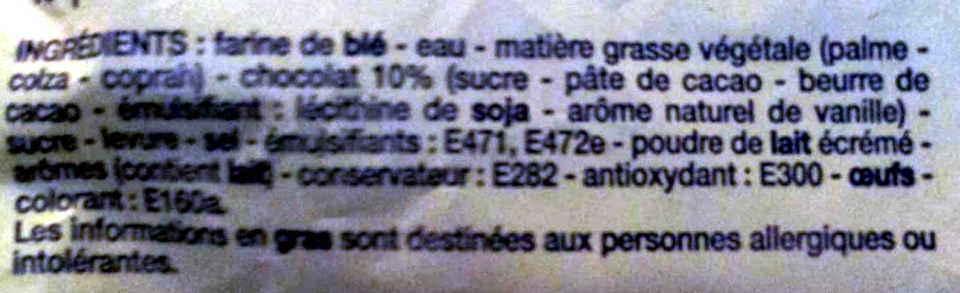 10 pains au chocolat - Ingrediënten - fr