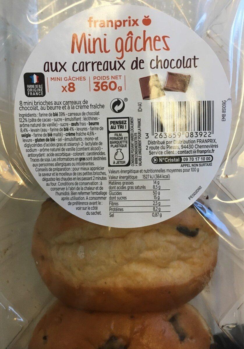Mini gâches aux carreaux de chocolat - Prodotto - fr