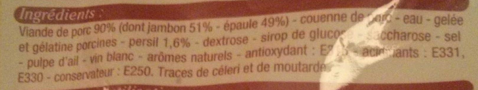 Véritable Jambon persillé de Bourgogne - Ingrédients - fr