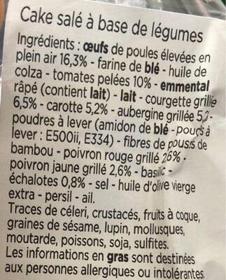 Cake aux légumes - Ingrediënten