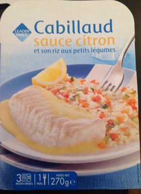 Cabillaud sauce citron et son riz aux petits légumes - Product