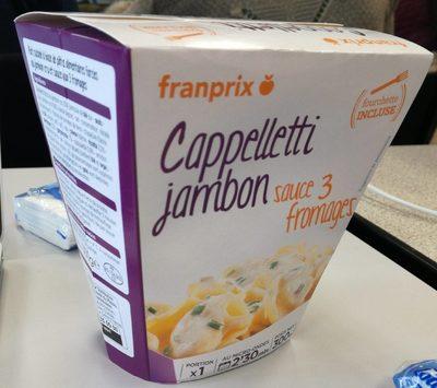 Capelletti jambon sauce trois fromages - Produit
