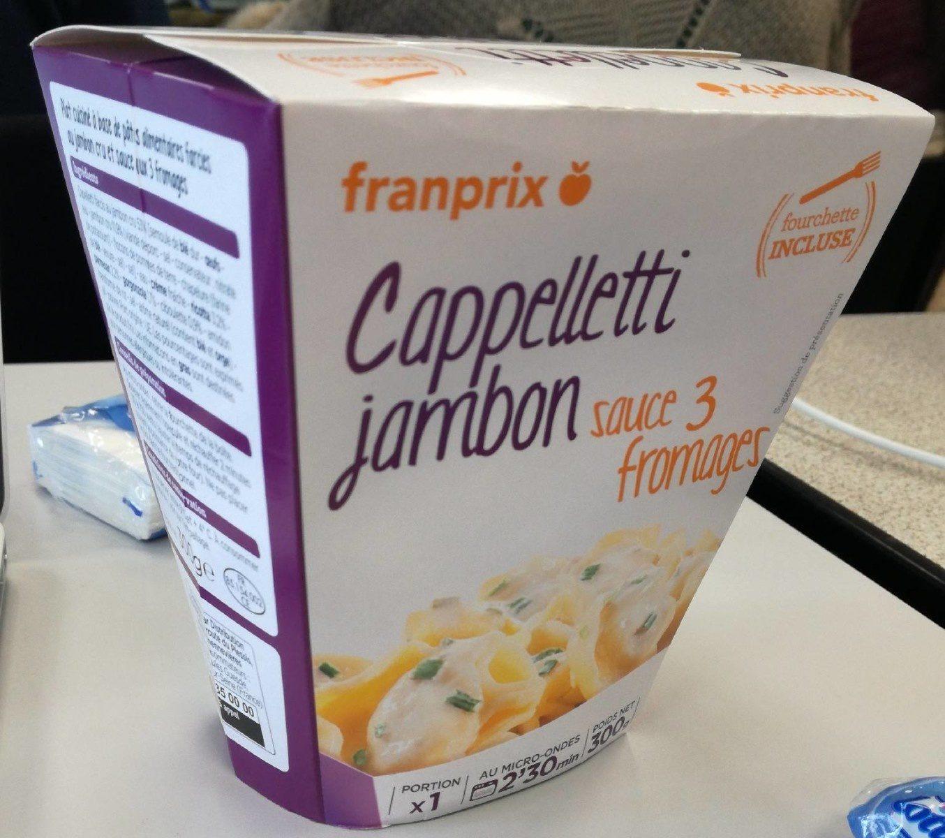 Capelletti jambon sauce 3 fromages - Produit - fr