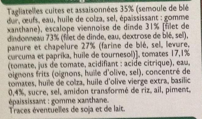 Escalope milanaise et tagliatelles - Ingrédients - fr