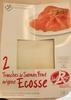 2 Tranches de Saumon Fumé origine Ecosse - Product