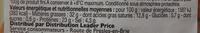Pavé au poivre Leader Price - Informations nutritionnelles