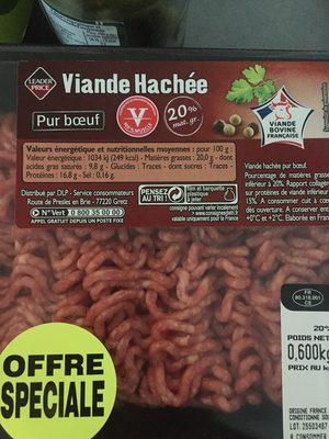 Viande hachée pur boeuf 20% mat. Gr. - Product