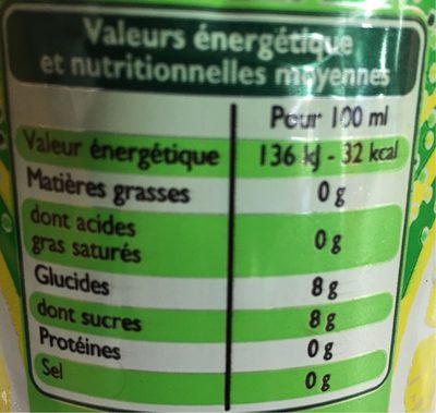 Lemon Lime - Saveur citron - citron vert - Nutrition facts - fr