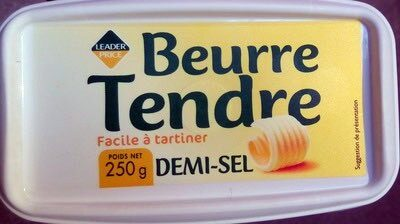 Beurre tendre demi-sel (80 % MG) - Produit - fr
