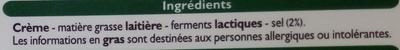 Beurre tendre demi-sel (80 % MG) - Ingrédients - fr