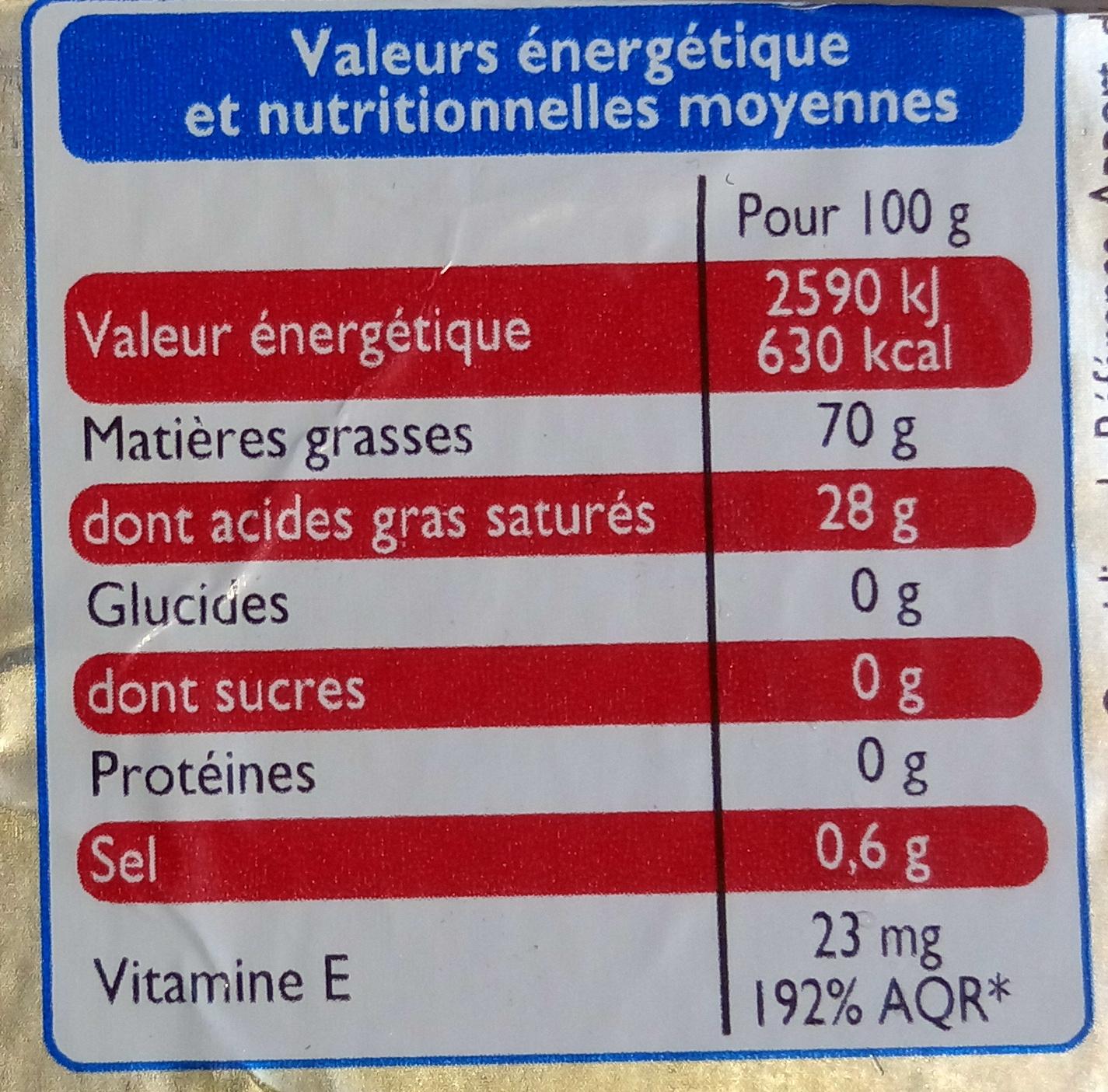 Matière grasse à cuire et à tartiner spécial cuisine (70 % MG) - Voedingswaarden - fr