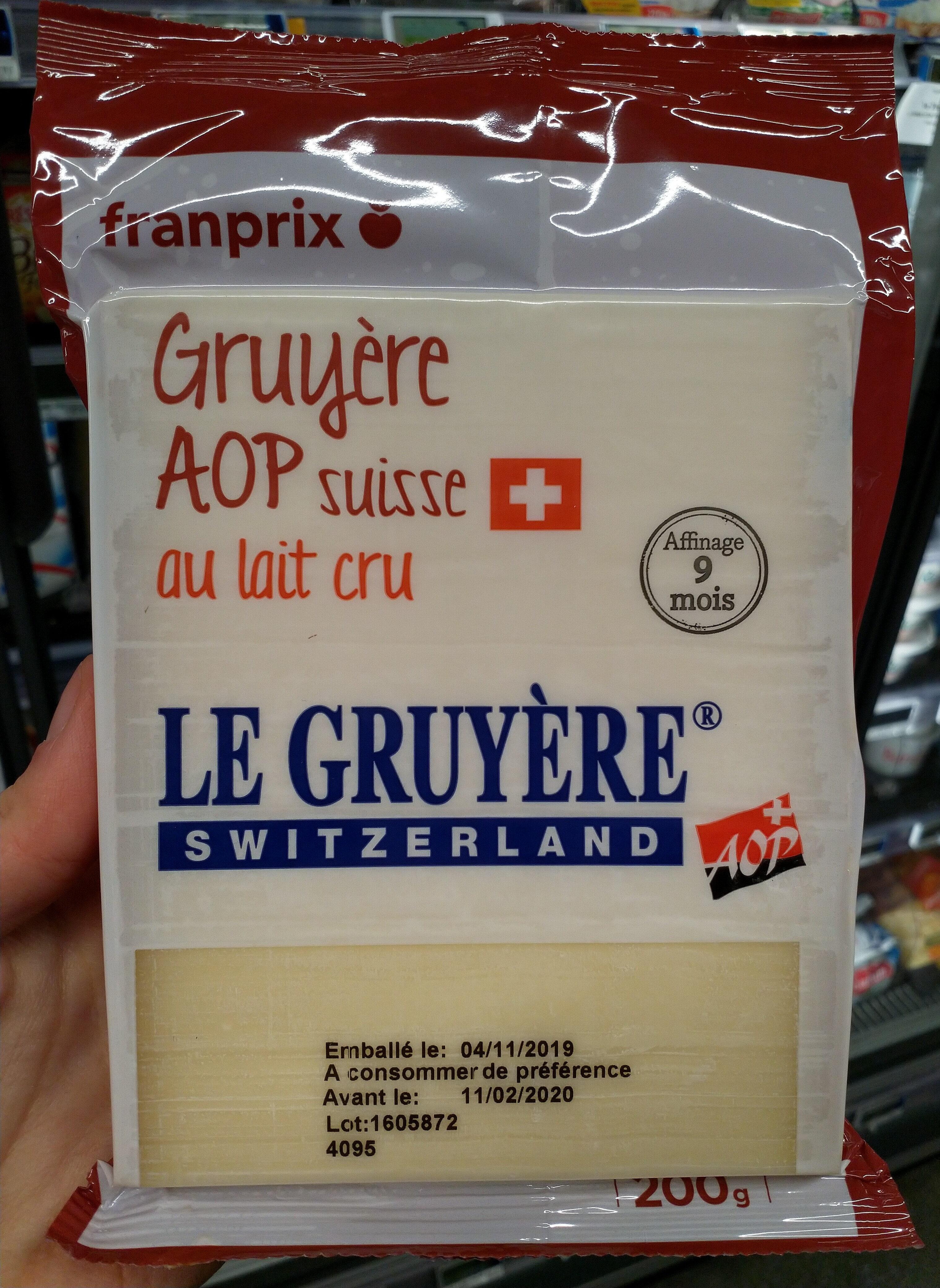 Le Gruyère AOP Switzerland - Produit - fr