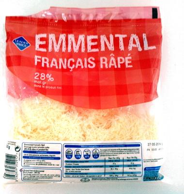 Emmental Français Râpé (28 % MG) - Produit