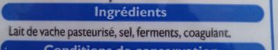 Emmental Français Râpé (28 % MG) - Ingrédients