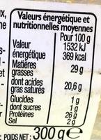 Cantal Entre-deux AOP - Nutrition facts