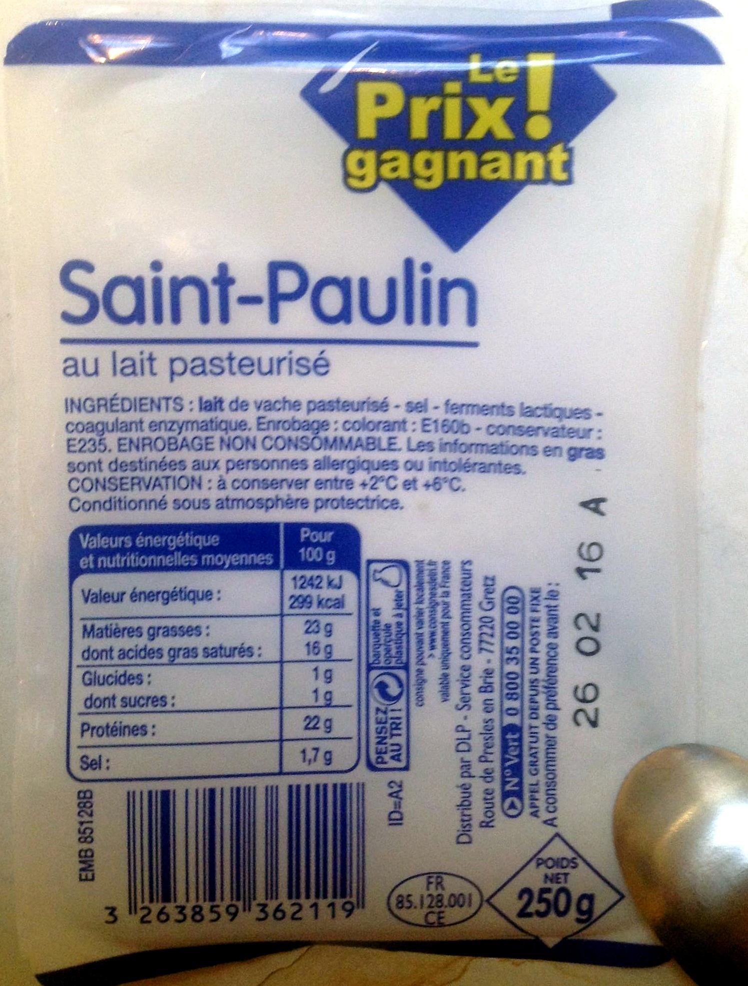 Saint-Paulin au lait pasteurisé - Produit - fr