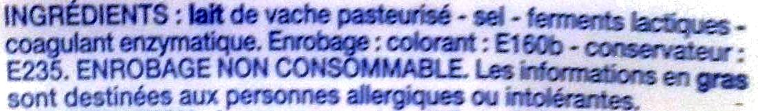 Saint-Paulin au lait pasteurisé - Ingrédients - fr