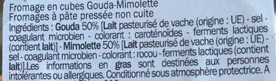 Fromage en Cubes - Gouda Mimolette - Ingredients