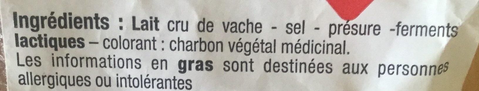 Morbier au Lait Cru - Ingrédients - fr