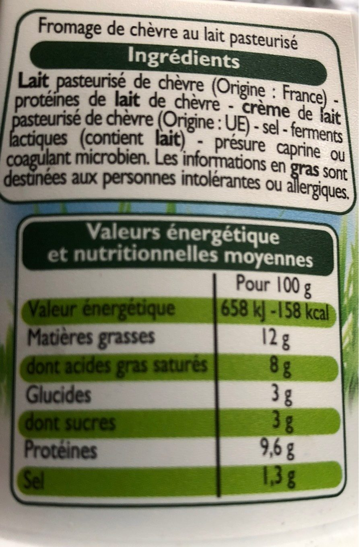 Pur Chèvre Doux - Voedingswaarden